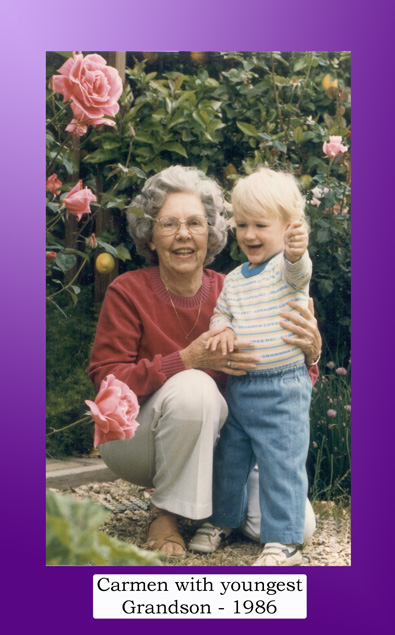 Carmen with youngest Grandson 1986
